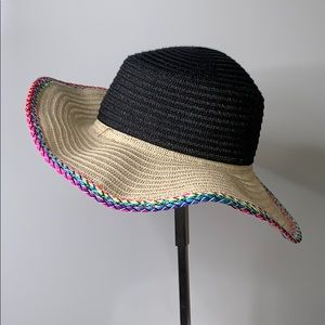AUGUST HAT CO • Black Natural Multi Straw Sun Hat